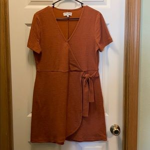 Texture & Thread rust wrap dress - EUC